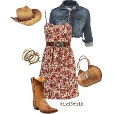 Country Outfit for my Bek   <3 .....thanks love an miss you mom! Take out the blue jean jacket lol