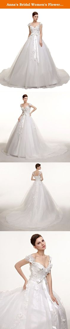 Anna's Bridal Women's Flowers Lace Wedding Dresses Ball Gowns 2017 Wedding Dress White US20W. This long Tulle dress with ball gowns back design is very lovely and eyes catching. The fabric is Tulle with light, soft, smooth and straight features, which is mostly used in women's fashionable special occasion dresses such as prom dress, girls' party dresses,homecoming dresses, beach party dresses.Perfect choice for evening gown and wedding bridesmaid dress. Dresses can be made according to…