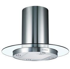 Cookology TUB900GL 90cm Round Glass & Stainless Steel Tubular Island Kitchen Extractor Fan / Chimney Cooker Hood: Amazon.co.uk: Large Appliances