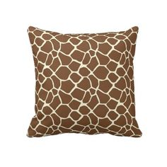 Giraffe Print pillow by joacreations