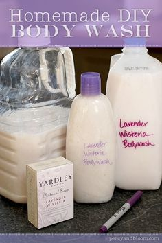 Homemade body wash ~ yardley - Click image to find more DIY & Crafts Pinterest pins