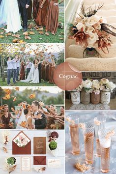 Fall 2014 Wedding Trends. Cognac A great earthy tone for fall, try using this color with one of the other colors, such as misted yellow, mauve mist and royal blue