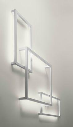 Aluminium wall lamp FRAMEWORK   Wall lamp by @AxoLight