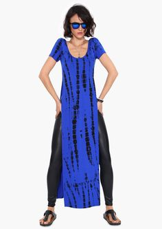 Tie Dye Shirt Dress in Cobalt blue  9b617e1b8db2f