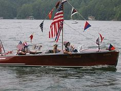 Lake rabun wooden boat parade 2013 full