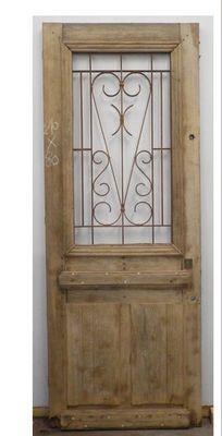 Porte avec ouvrant vitr grille en font partie vitr e ouvrante portes d 39 entree il tait - Porte vitree exterieure ...