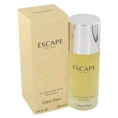 Escape by Calvin Klein 3.4 oz EDT Spray men NIB. List Price: $67.00 Price: $34.99 You Save: $32.01 (48%)