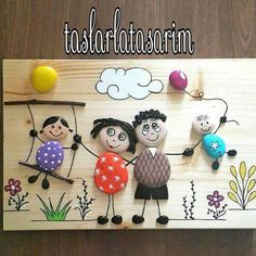 Pebbles: 25 ideas for creative art inspiration - Pebble art The Effective Pictures We Offer You About ideas manualidades A quality picture - Stone Crafts, Rock Crafts, Diy And Crafts, Crafts For Kids, Arts And Crafts, Painting For Kids, Diy Painting, Painting On Wood, Art For Kids
