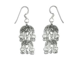 Handcrafted Jewelry from India Sterling Silver Earrings Fashion 1.75 Inches: Jewelry: Amazon.com