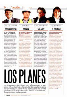 Andres Jaramillo Lopez. Especial de Infraestructura. Revista Dinero.