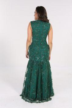 Fabulous Agilita - Verde Recorte - Longos - Vestidos Novos e Semi-novos