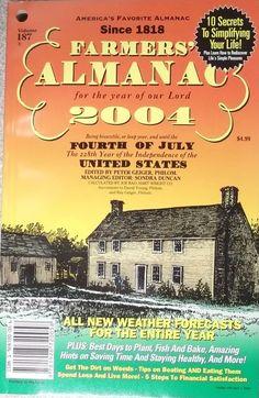 The Farmer's Almanac 2004 Paperback Autographed 1928720056 | eBay