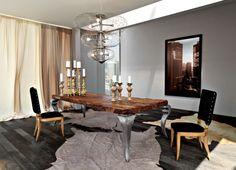 IDEAS DE MUEBLES DE MADERA RUSTICA - Manualidades con madera ideas de muebles que puede recrear - mesa de comedor de diseño http://casaydiseno.com/bricomania/manualidades-con-madera-ideas-de-muebles.html
