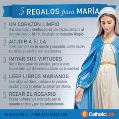 Biblioteca de Catholic-Link - Infografía: 5 regalos para María