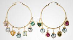 Daily Jewelry Inspiration: Hoop Earrings by Dima Rashid « Jewelry « www.SansRetouches.com