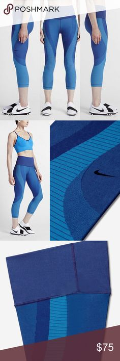 Nike Zoned Sculpt Training Capri Tights The Nike Zoned Sculpt Women's Training Capris feature contoured, engineered knit fabric that helps support your muscles. Flat seams provide exceptional comfort so you can focus on your workout. Dri-FIT technology helps keep you dry and comfortable Knit-in compression zones help support large muscle groups Ribbed, high-rise waistband is tilted up in back for a locked-in feel Flat seams move smoothly against your skin Dri-FIT 80% nylon/16% polyester/4%…