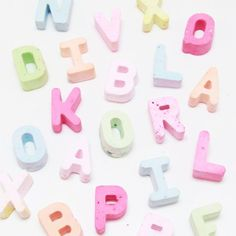 Chalk is so easy to make! Learn the alphabet or use as a party favor- send each kid home with their own name!