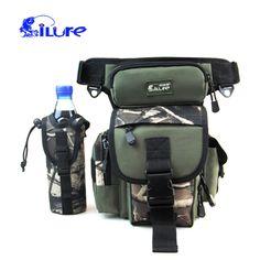 29*22*12CM iLure Fishing Bag Multi-Functions Waterproof Canvas Fishing Reel Lure Tackle Bag 4 Colors