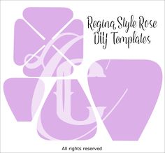 Regina Style Giant Paper Rose Templates- Receive by Mail - Catching Colorlfies Giant Paper Flowers, Paper Roses, Large Flowers, Wall Flowers, Paper Peonies, Flower Wall, Leaf Template, Flower Template, Templates