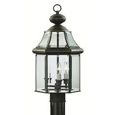 Kichler Lighting Kichler Post Light with White Glass in Olde Bronze Finish | 9985OZ | Destination Lighting