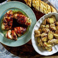 baconsurret kylling med poteter