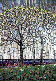 Rain Chorus by Michael Sweere -Mosiac Creating modern fine art from reclaimed materials.