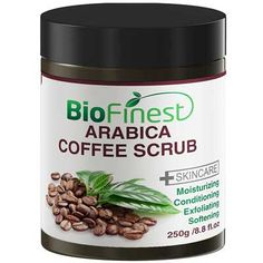 Biofinest Arabica Coffee Scrub Best For Varicose Veins Cellulite Stretch Marks Eczema Acne Moisturizer and Exfoliator * For more information, visit image link. Coffee Cellulite Scrub, Coffee Face Scrub, Coconut Oil Sugar Scrub, Sugar Scrub Recipe, Best Organic Coffee, Acne Moisturizer, Coffea Arabica, Face Scrub Homemade, Curly Hair