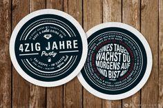 """Ein Bierdeckel als Geburtstagseinladung: Die """"Zig"""" Bierdeckel Einladung • www.vollstark.de"""