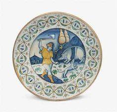 A DERUTA CHARGER  CIRCA 1525-1560