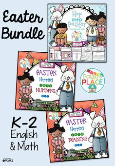 Easter bundle for K-2. Math, Reading and Writing tasks