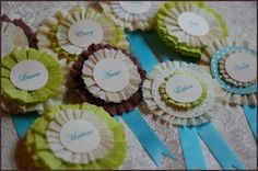 DIY Crepe Paper Award Ribbons