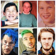Markiplier, Jacksepticeye, and Pewdiepie