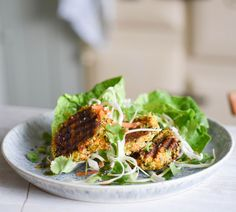 weekend eats ginger, black sesame  halloumi burgers with spiced tahini slaw