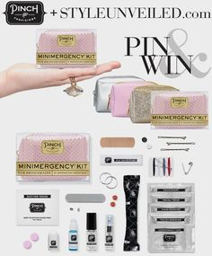 Pin & Win Mini Wedding Day Emergency Kits by Pinch Provisions / via StyleUnveiled.com / if you want to enter, click on the image for giveaway details