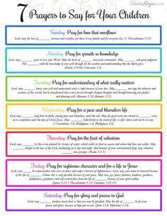 7 Prayers to Say for Your Children - Tricia Goyer - Prayer board - Praying For Your Children, Prayers For Children, Bible Verses For Children, Prayers For My Husband, Praying For Others, Quotes Children, Power Of Prayer, My Prayer, Kids Prayer