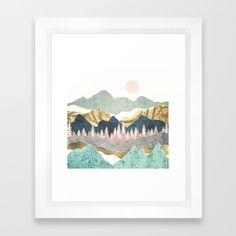 Summer Vista Framed Wall Art Print by SpaceFrogDesigns. Check out the work of one of our top 25 favorite artists on Society Other print options are available to you as wall art and home décor doe this amazing design, come check them all out today. Framed Wall Art, Framed Art Prints, Red Media, Landscape Art, Online Art, Gallery Wall, Wall Decor, Tapestry, Nature