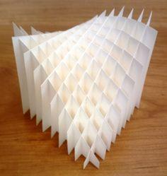Sliceform conoid surface