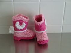 Crocheted baby Cowboy Cowgirl Boots by JansCrochetBoutique on Etsy, $19.00