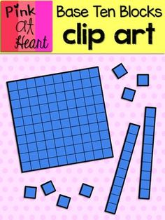 Base Ten Blocks Clip Art FREEBIE ZIP file includes Ones, Tens and Hundreds Base Ten Block png images. See Store Policies for terms of use. Math Activities, Teaching Resources, Therapy Activities, Teaching Ideas, Base Ten Blocks, Classroom Clipart, Math Anchor Charts, Singapore Math, Math Groups