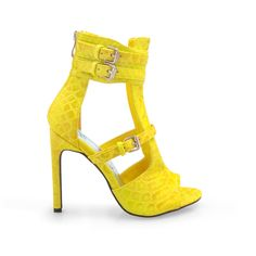- Material: Textured Leatherette - Heel Height: 4.75 in - Fit: True to size