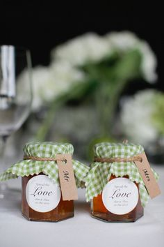 """""""spread the love"""" wedding favors...could do great grandmas blueberry jam :)"""