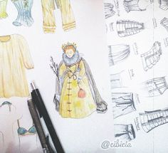 Queen Elizabeth I of England And my sketches of women's underwear.  Pencil & watercolor.  #illustrationartists #illustration #art #watercolor #draw #sketch #painting #paint #drawing #watercolour #sketching #underwear #fashion #Elizabeth #queen #queenelizabeth #england #ilustrasi #gambar #lukisan #catair #design #visualdesign #dress #1800s #underwear #womenunderwear #bra #panty #watercolorpainting #watercolourpainting