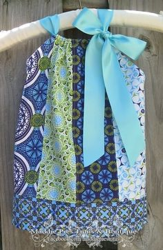 Patchwork Pillowcase Dress by MaddiePiesBoutique on Etsy, $32.00
