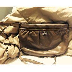 """Vintage Etienne Aigner bag Neutral colored vintage Etinne Aigner bag in faux leather. Very good vintage condition. H 8"""" x W 12.25"""" x D 0.75"""" strap drop 18"""" Etienne Aigner Bags Shoulder Bags"""