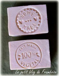 Savon blanc à la crème et essai des tampons de chez Aroma'Zone