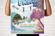 Cloud Break Fiji Skydiving Boogie poster design by B Smart Designs  www.bsmartdesigns.com