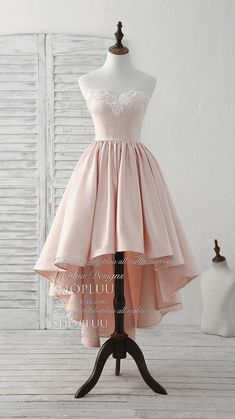 Pink sweetheart neck short prom dress pink homecoming dresses, pink cocktail dress