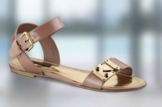Louis Vuitton Sesame Sandal in Rose Velours
