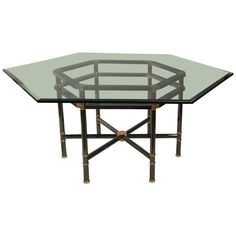 Karl Springer Jansen Style Table | From a unique collection of antique and modern dining room tables at https://www.1stdibs.com/furniture/tables/dining-room-tables/