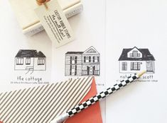 Custom House Address Stamp